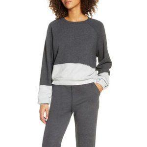 Zella Grey Dip Dye Sweatshirt - Comfy, Crewneck